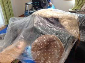エアコンクリーニング 家具の養生